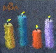 Candles on Homemade Paper by Mark Cottman